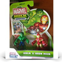 Marvel Playskool Mini Figure 2PACK Hulk