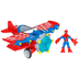 spider-man stunt wing spider plane figure